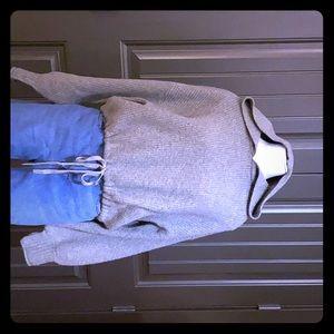 American Eagle Cropped Sweater w/Hood